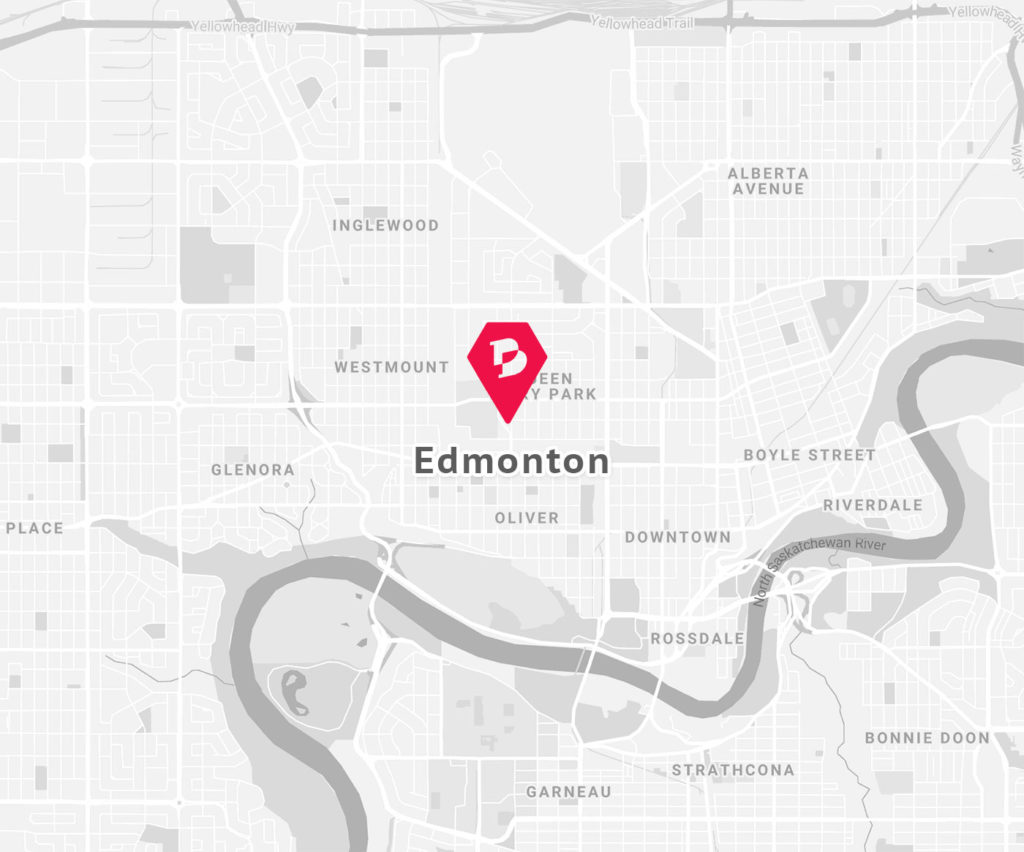 Brighter Digital Edmonton Location Map